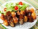 Рецепта Шишчета с пресни картофи и патладжани